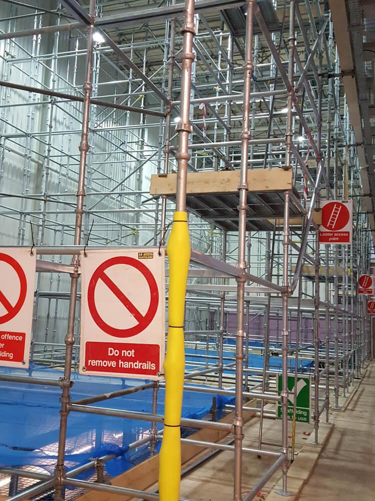 ab access scaffolding in IDL whiskey distillery